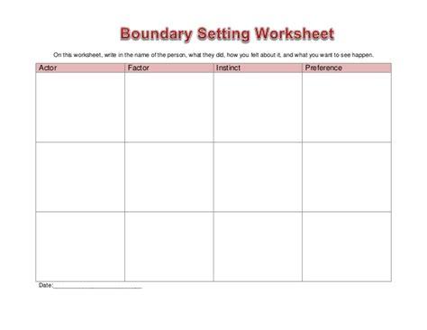 Setting Healthy Boundaries Worksheets by Worksheet Boundary Setting