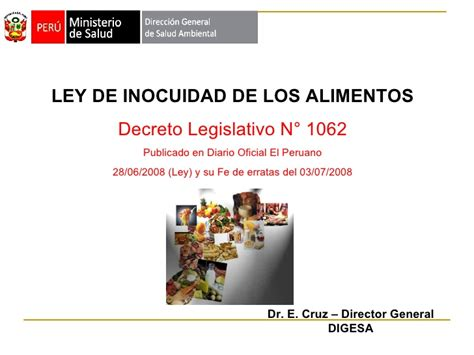 decreto legislativo n 1229 diario oficial el peruano ley de inocuidad de los alimientos