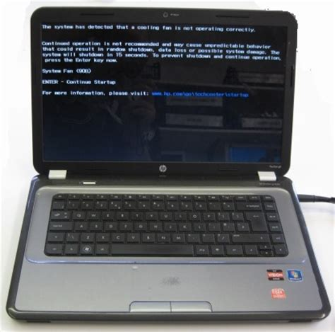 how to fix system fan (90b) error on a hp pavilion g6