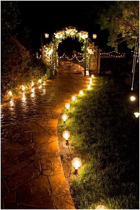 landscape lighting ideas walkways 10 outdoor wedding walkway lighting ideas