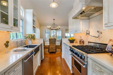 galley style kitchen with island top 30 galley kitchen with island and pictures galley kitchen with island in kitchen