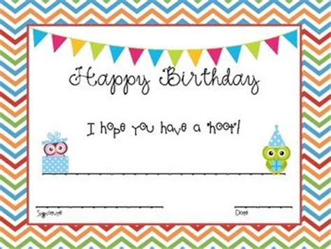 free templates for birthday certificates printable birthday certificates certificate templates