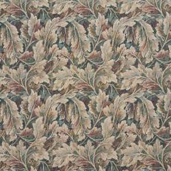 Tapestry Fabric Burgundy Ivory And Green Floral Leaf Tapestry Upholstery