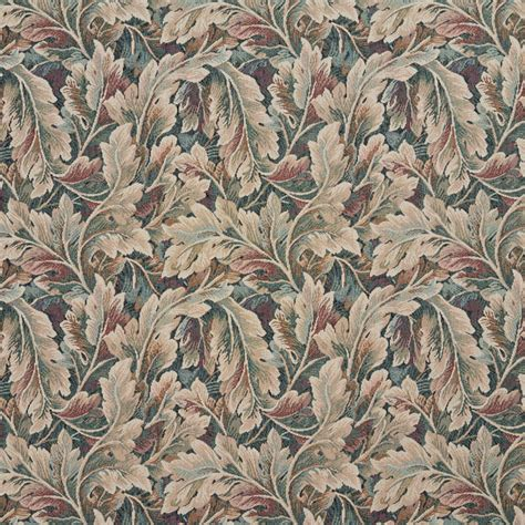 tapestry upholstery fabric burgundy ivory and green floral leaf tapestry upholstery