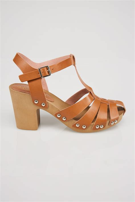 wooden sole sandals block heel sandal with wooden effect sole in e