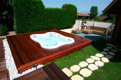 outdoor spa landscaping ideas hot tubs jacuzzis
