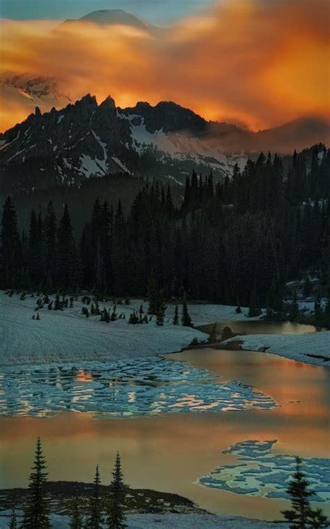 Sunset Tipsoo Lake Washington