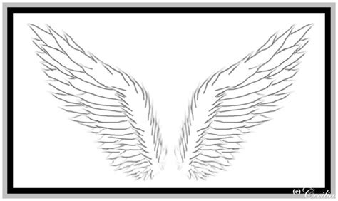 simple tattoo angel wings simple angel wing tattoos clipart best
