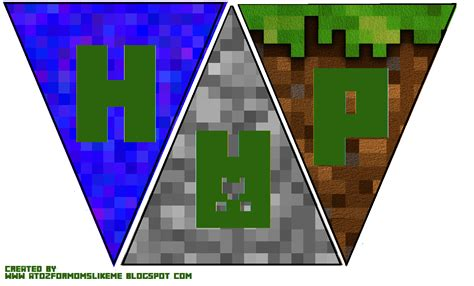 printable happy birthday minecraft banner a to z for moms like me minecraft birthday party