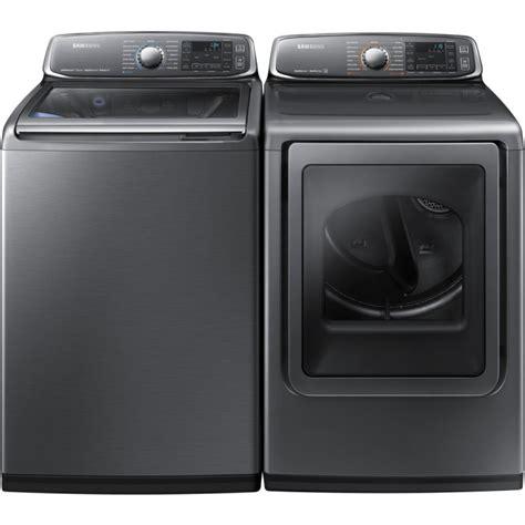 top loader washer dryer samsung wa52j8700ap top load washer dv52j8700ep electric
