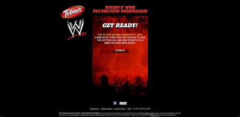 Wwe Sweepstakes - totino s wwe pay per view sweepstakes