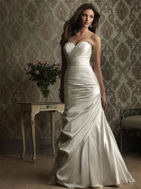 stunning sweetheart fitted sheath wedding dresses