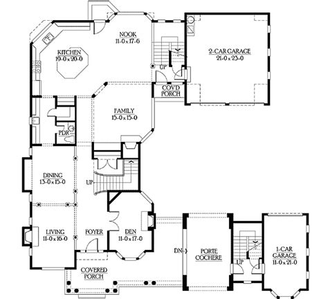 U Shaped Floor Plans by U Shaped Home Plan With Tour 23195jd