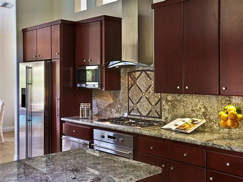dark granite countertops hgtv dark wood cabinets blend with marble countertops hgtv