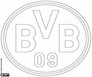ausmalbilder fahnen und embleme der deutschen fußball liga