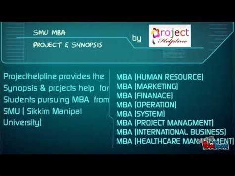 Smu Mba Project Synopsis Free by Smu Mba Synopsis And Projects Presentation Project