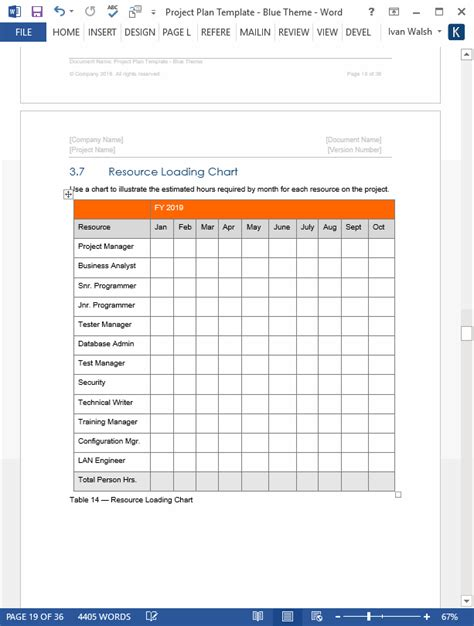 project plan template  ms word excel forms spreadsheets