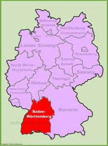 Baden Germany Map by Baden W 252 Rttemberg Location On The Germany Map