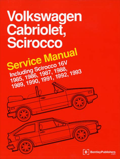 front cover vw volkswagen fox service manual 1987 1993 bentley publishers repair front cover vw volkswagen repair manual cabriolet scirocco 1985 1993 bentley publishers