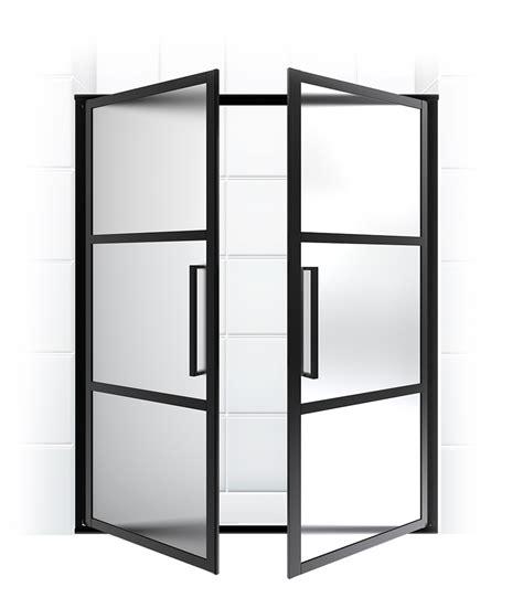 divided light shower doors swinging doors coastal shower doors