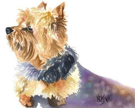 original yorkshire terrier yorkshire terrier art print of original watercolor