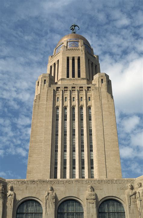 lincoln is the capital of what state exterior of nebraska state capitol tower nebraska
