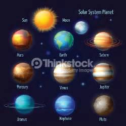 planets colors solar system planets pictograms set vector thinkstock