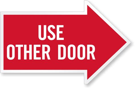 Use Other Door Sign by Other Door Sign Quot Quot Sc Quot 1 Quot St Quot Quot Compliance Signs