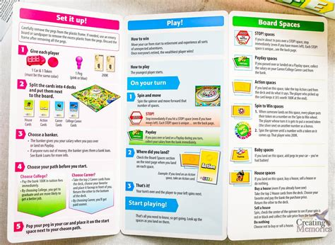 printable directions for the game of life the new game of life by hasbro with instructions