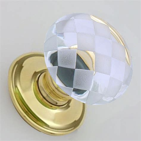 Glass Handle Door Knobs by Snobsknobs Clear Glass Chequerboard Door Knobs Snobsknobs