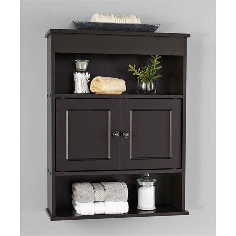 chapter bathroom wall cabinet storage shelf espresso ebay