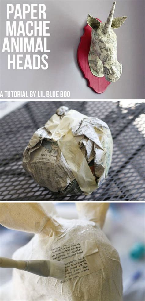 How To Make Paper Mache Animal Heads - 25 b 228 sta animal heads id 233 erna p 229 totem