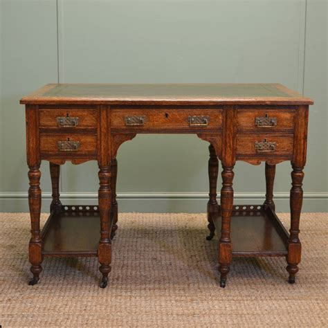 small antique desk characterful small oak antique arts and crafts