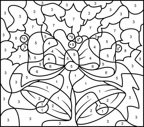 15 pics of hard color number coloring pages christmas printable