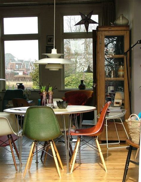 beautiful interior designs featuring  eames molded