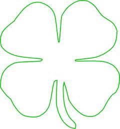 Four Leaf Clover Outline Clip by White Green Shamrock Clip At Clker Vector Clip