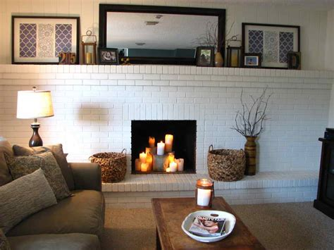 Fireplace Finishes Ideas by Refacing Brick Fireplace