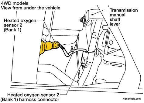 nissan oxygen sensor wiring diagram wiring diagram with