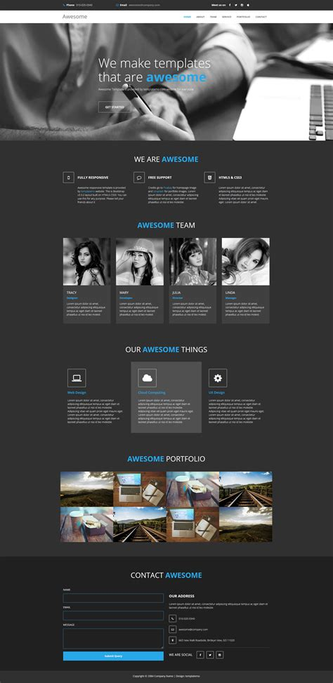 bootstrap v3 themes template 450 awesome
