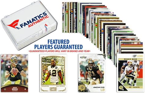 New Orleans Saints Cards - new orleans saints team trading card block 50 card lot