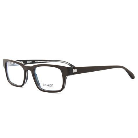 starck eyeglasses sh 3011 0009 brown frame 49 mm
