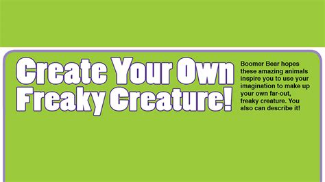 Make Your Own News Paper - create your own creature essential news