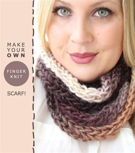 how to make a finger knit scarf wider finger knit scarf tutorial plus knit arm bras