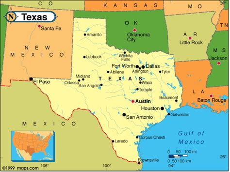 states that border texas map texas map