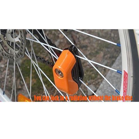 Rem Cakram Radius gembok cakram motor dan sepeda dengan alarm black