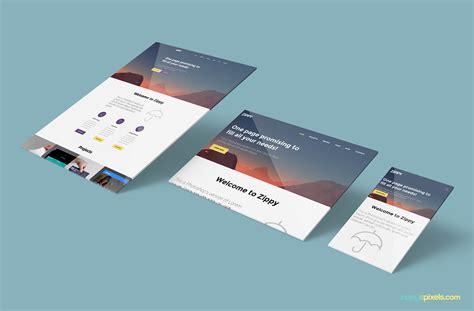 web design mock up sle free perspective website mockup zippypixels