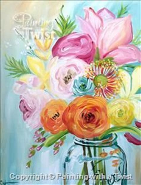 paint with a twist winter park event vibrant flowers oh painting