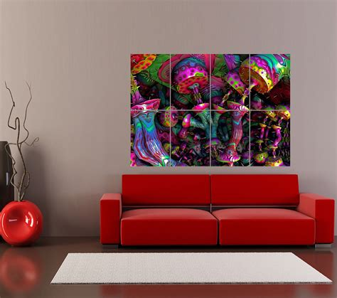 psychedelic trippy print home decor poster