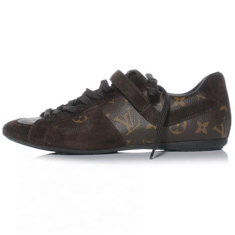 louis vuitton monogram suede globe trotter tennis shoes