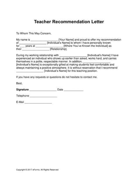 sample teacher of the year recommendation letter video lesson